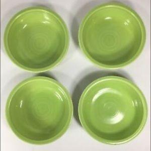 FIESTAWARE in LEMONGRASS: 4 plates + 3 bowls